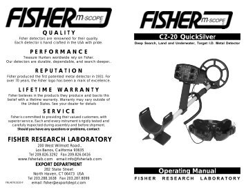 Fisher 1225x metal detector manual