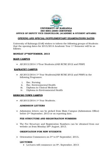 Special Exams Letter