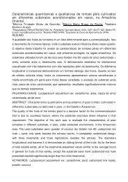 Características quantitativas e qualitativas de tomate pêra ... - ABH