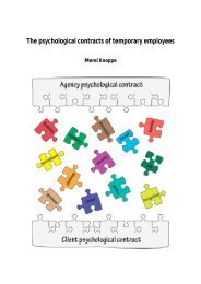 The psychological contracts of temporary ... - Innovatief in Werk