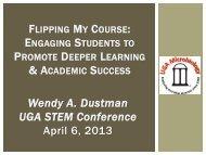 Wendy A. Dustman UGA STEM Conference April 6, 2013