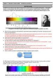 TD spectre solaire cor - S. Tatulli