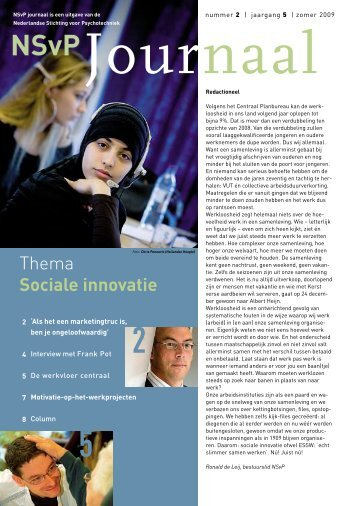 NSvPJournaal 2 - Innovatief in Werk