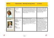 Referent Thema & Zeiten Workshop-/Vortrags-Thema Zur Person