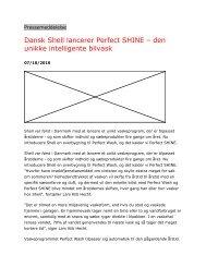 Dansk Shell lancerer Perfect SHINE – den unikke intelligente bilvask