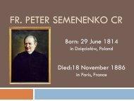Ojciec Piotr Semenenko CR