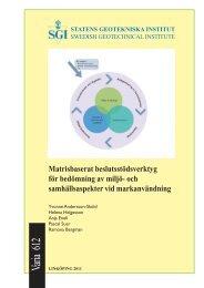 Matrisbaserat beslutsstöds- verktyg för bedömning av miljö