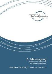 Programm - Deutsche Gesellschaft für System Dynamics eV