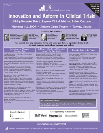 to see full conference program. - Ontario Genomics Institute