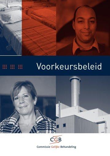 Brochure Voorkeursbeleid - CGB - Innovatief in Werk