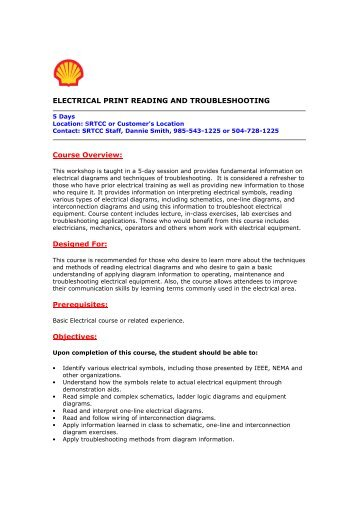 Electrical Print Reading Training