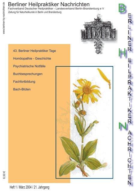 BHN Ausgabe 1-04 - Berliner Heilpraktiker Nachrichten