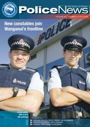 Police News July 09.indd - New Zealand Police Association