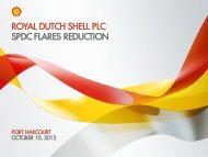 SPDC Flares Reduction Programme