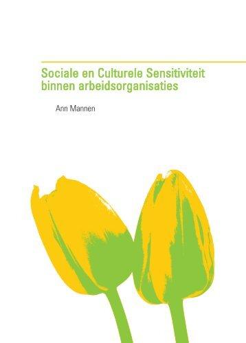 Sociale en Culturele Sensitiviteit binnen ... - Innovatief in Werk