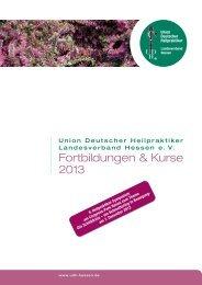 Programmübersicht 2013 - Union Deutscher Heilpraktiker ...