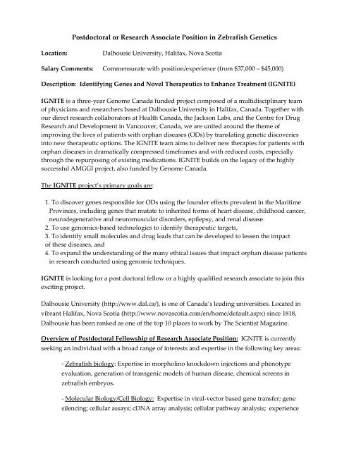 Chemistry Postdoc Position In Canada
