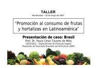 """""""Promoción al consumo de frutas y hortalizas en Latinoamérica"""" - ABH"""