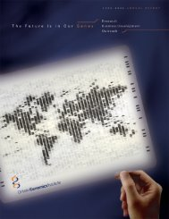 Annual Report 2006 - Ontario Genomics Institute