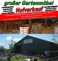 Gartenmöbel Hofverkauf Promotion KW 32 / 2015