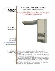 Cogent™ Training Headwall Installation Instructions - Hospital ...