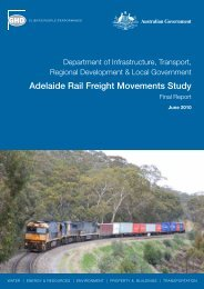 Adelaide Rail Freight Movements Study Final Report June 2010