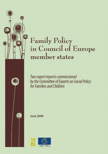 Family Policy in Council of Europe member states