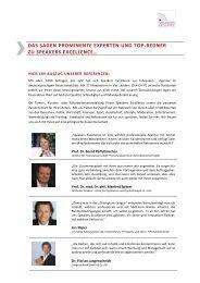 Top 100 Redner & Experten über die Speakers Excellence