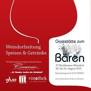 Weindorfzeitung Speisen & Getränke