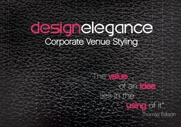 Design Elegance Corporate Venue Styling