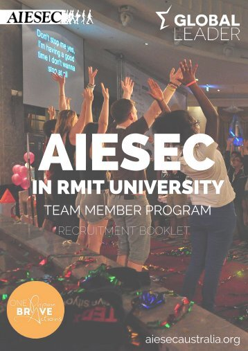 AIESEC in RMIT Recruitment Booklet