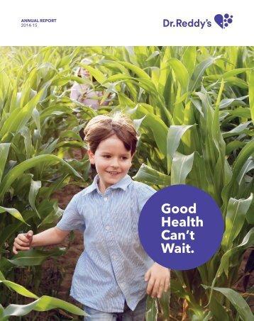 Good Health Can't Wait.