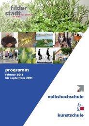 volkshochschule kunstschule programm - Stadt Filderstadt
