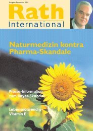 Umschlag Deutsch - Dr. Rath Gesundheits-Allianz