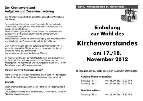 A5 Flyer KV-Wahl 2012.p65 - Start - Katholisch in Steinfurt