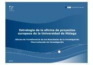Estrategia de la oficina de proyectos europeos de la ... - Euroblog