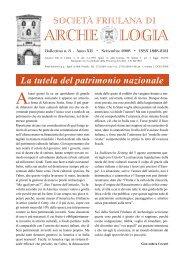 Anno XII - n. 3 - Settembre 2008 - Società Friulana di Archeologia
