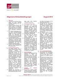 Allgemeine Einkaufsbedingungen August 2012
