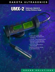 Dakota Ultrasonics UMX-2 Thickness Gauge Datasheet ... - Instrumart