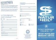 VUH Flyer PDF - Verband Unabhängiger Heilpraktiker eV