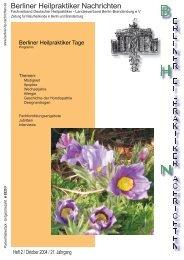 BHN Ausgabe 2-04 - Berliner Heilpraktiker Nachrichten