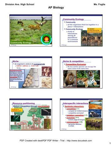 community ecology foglia.pdf - Lincoln AP Biology - home
