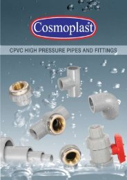 Cosmoplast CPVC PIPES & FITTINGS FOR ... - Harwal.net