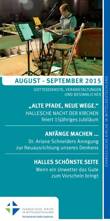 Programm des Evang. Kirchenkreises Halle-Saalkreis für August - September 2015