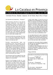 C:\Documents and Settings\Cathe - Slow Food France
