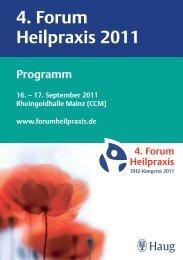 4. Forum Heilpraxis 2011 - MVS Medizinverlage Stuttgart
