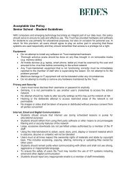 Acceptable Use Policy Senior School - Student Guidelines