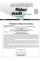Einladung zur Bürgerversammlung - Stadt Filderstadt