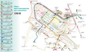 Plan des transports en commun - Marché de Rungis