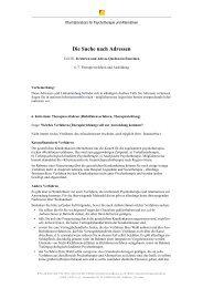 Die Suche nach Adressen - Netzwerk Psychotherapie und Alternativen